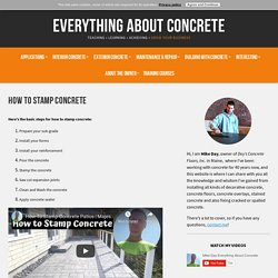 How To Stamp Concrete - Training From A Real Pro