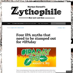 Four IPA myths that need to be stamped out for #IPAday