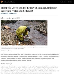Stampede Creek and the Legacy of Mining: Antimony in Stream Water and Sediment (U.S. National Park Service)