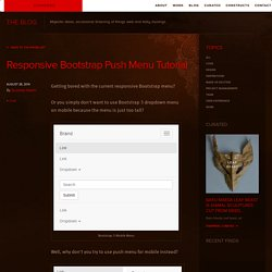 Stampede Design » Stampede Blog - Responsive Bootstrap Push Menu Tutorial