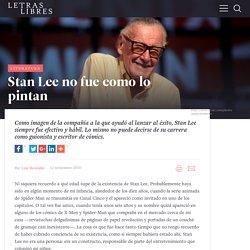 Stan Lee no fue como lo pintan