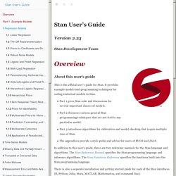 Stan User's Guide