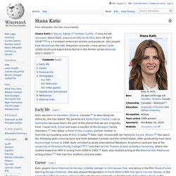 Stana Katic - Wikipedia