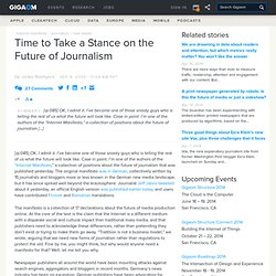 Time to Take a Stance on the Future of Journalism