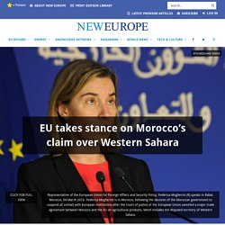 EU takes stance on Morocco's claim over Western Sahara