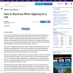 How to Stand out When Applying for a Job