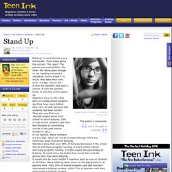 Teen Essay About bullying, school and self-esteem