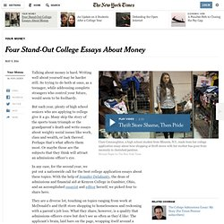 Four Stand-Out College Essays About Money
