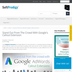 Stand out from the Crowd with Google's Callout Extension