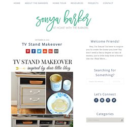 TV Stand Makeover - At Home with The Barkers