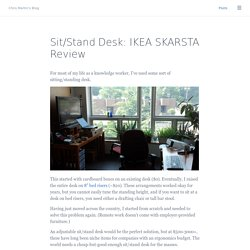 Sit/Stand Desk: IKEA SKARSTA Review - Chris Martin's Blog