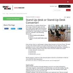 Stand Up desk or Stand-Up Desk Converter