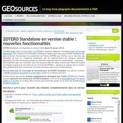ZOTERO Standalone en version stable : nouvelles fonctionnalités « GEOsources