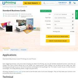 Standard Business Card Printing - UPrinting.com