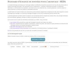 Standard d'échange de données pour l'archivage (SEDA)