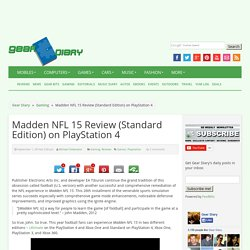 Madden NFL 15 Review (Standard Edition) on PlayStation 4
