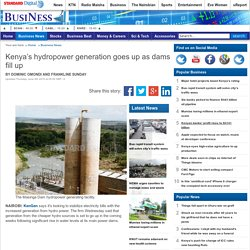 Kenya's hydropower generation goes up as dams fill up