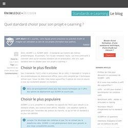 Quel standard choisir pour son projet e-Learning ?