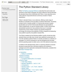 The Python Standard Library — Python v3.3.2 documentation