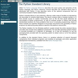 The Python Standard Library — Python v2.7.2 documentation
