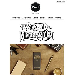 The Standard Memorandum – Word Notebooks