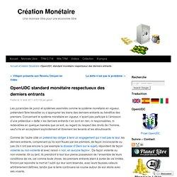 OpenUDC standard monétaire respectueux des derniers entrants