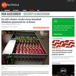 25-GPU cluster cracks every standard Windows password in <6 hours