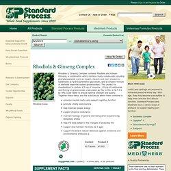 Standard Process - Rhodiola & Ginseng Complex