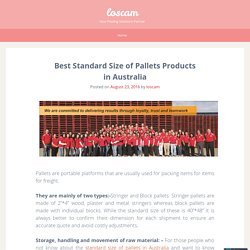 Best Standard Size of Pallets Products in Australia