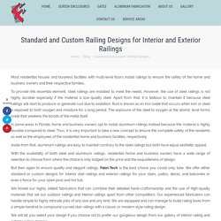 Standard and Custom Railing Designs in Southwest Florida