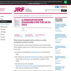 A minimum income standard for the UK in 2012