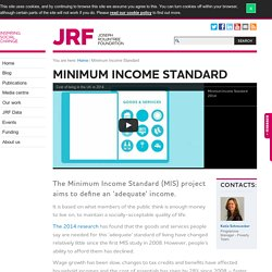 Minimum Income Standard