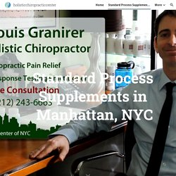 Standard Process Supplements in NYC - Dr. Louis Granirer