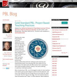 Gold Standard PBL: Project Based Teaching Practices