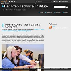 Medical Coding - Set a standard career path