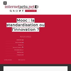 Mooc : la standardisation ou l'innovation