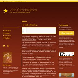 Web Standardistas · Web Standards Design