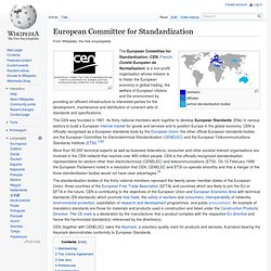 European Committee for Standardization