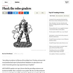 Standardized-test robo-graders flunk