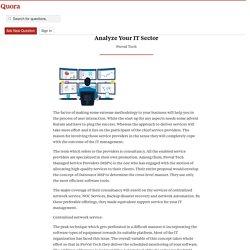 Utilize Some Standardized Management Service to... - NOC Sevices - Quora