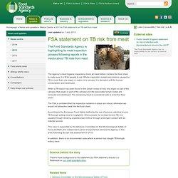 FSA 01/07/13 FSA statement on TB risk from meat.