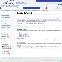 ACRL | Standards Toolkit