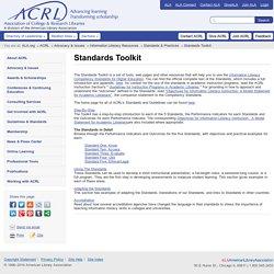 ACRL | Standards Toolkit