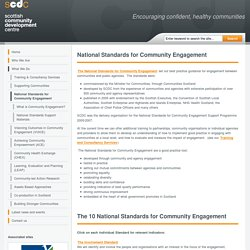 National Standards for Community Engagement