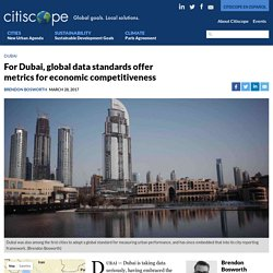 For Dubai, global data standards offer metrics for economic competitiveness