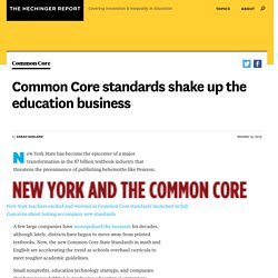 Common Core standards shake up the education business