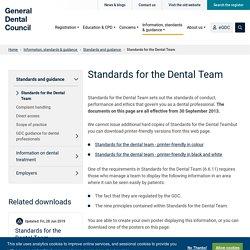 Standards for the Dental Team