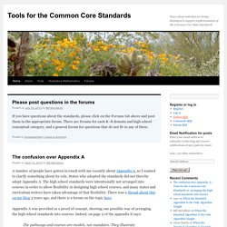 Tools for the Common Core Standards | News about tools that are being developed to support implementation of the Common Core State Standards