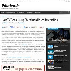 How To Teach Using Standards Based Instruction