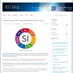 blog » IEC Standards and the revised International System of Units